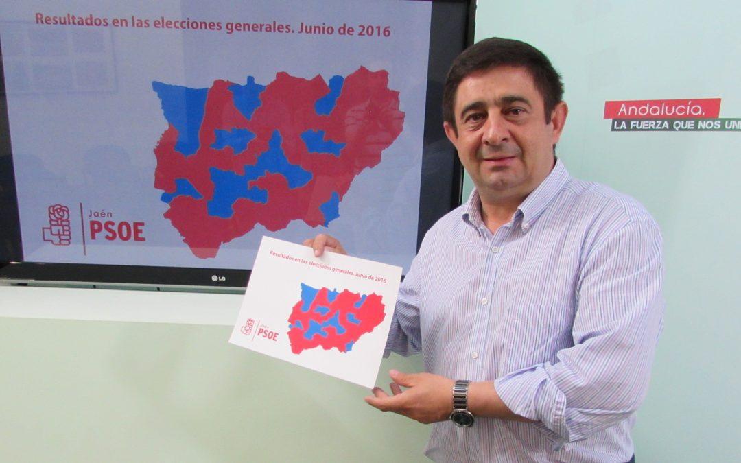 """Francisco Reyes: """"Hemos ganado en 77 municipios de los 97 de la provincia para conseguir el mejor resultado porcentual del PSOE en toda España"""""""