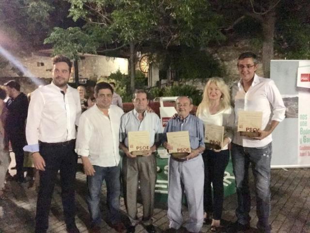 Eduardo Madina recoge el Premio Socialista 2015 concedido por el PSOE de Bedmar