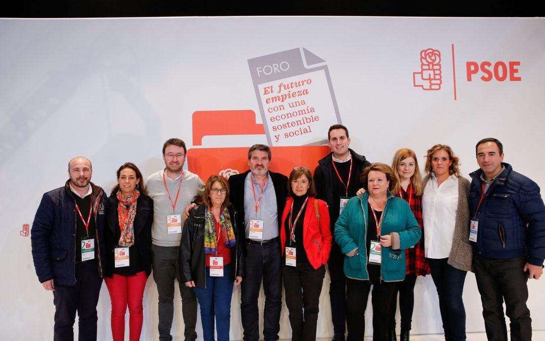 El PSOE de Jaén participa con 11 militantes en el Foro de Economía Sostenible y Social