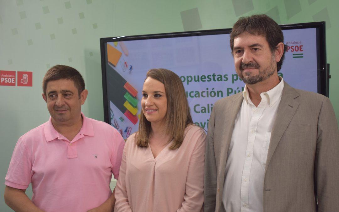 El PSOE de Jaén presenta una batería de propuestas para mejorar la educación pública en la provincia