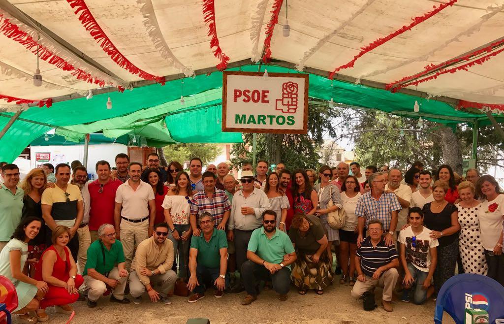 """Reyes valora el trabajo del PSOE en el Ayuntamiento de Martos: """"En un mandato difícil, se están cumpliendo los compromisos adquiridos con la ciudadanía"""""""