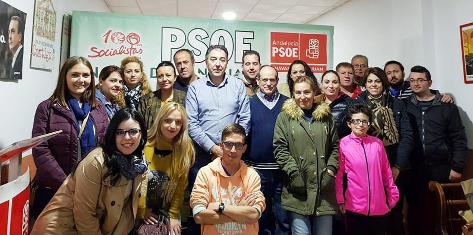 Joaquín Requena, reelegido secretario general del PSOE de Navas de San Juan