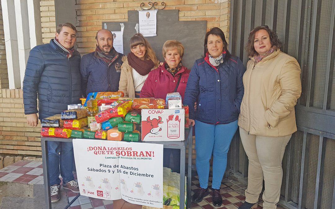 """Juventudes Socialistas de Rus finaliza su campaña de recogida de alimentos con """"una gran aceptación"""" de los vecinos"""