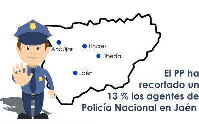 El Gobierno reconoce que ha recortado un 13% el número de policías en la provincia después de que el PSOE lo elevara un 32%