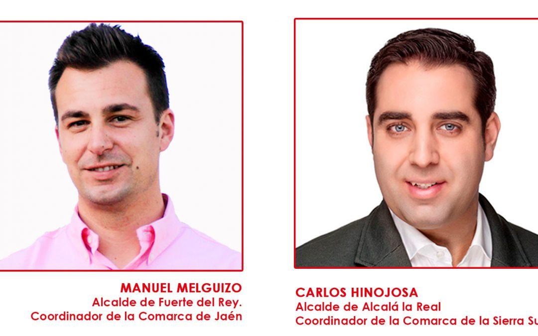 Manuel Melguizo y Carlos Hinojosa, coordinadores comarcales de Jaén y Sierra Sur