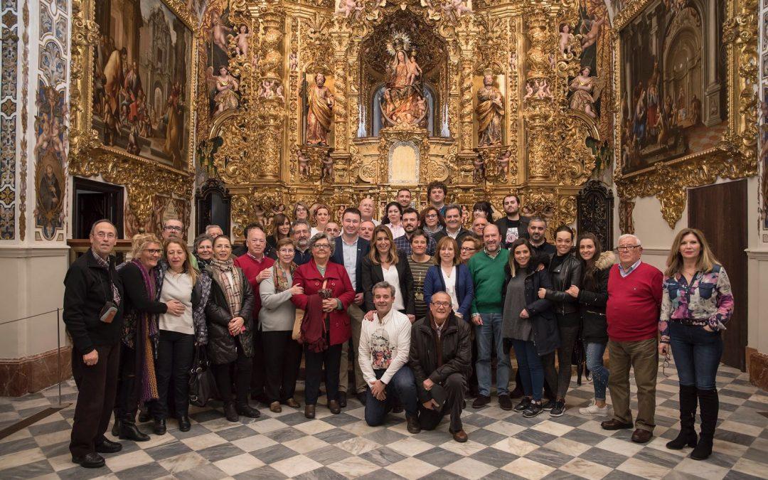 La Agrupación de Linares visita el Palacio de San Telmo y el Parlamento andaluz