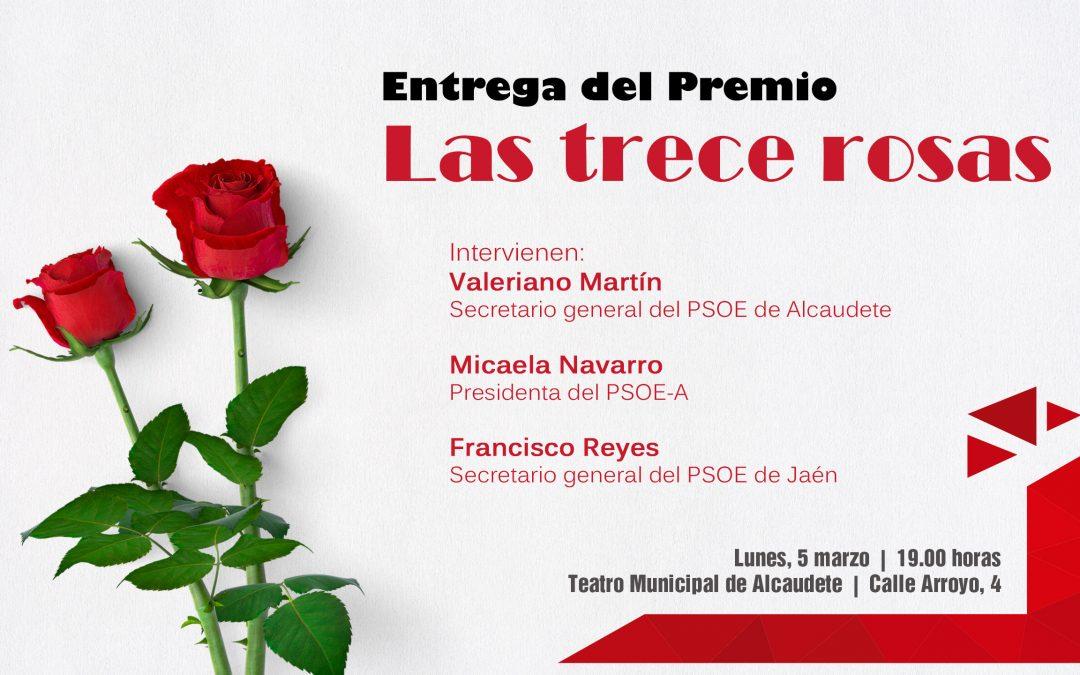 El PSOE concede su V Premio 'Las 13 Rosas' a la histórica socialista Ángeles Cobo