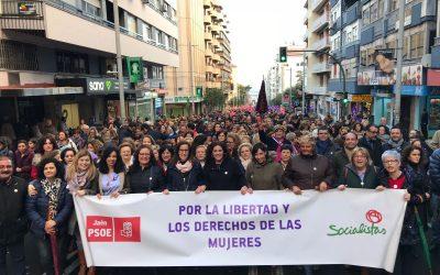 El PSOE participa intensamente en la jornada del 8 de marzo por la igualdad