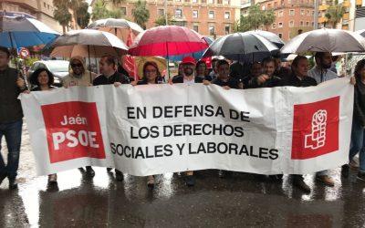 Socialistas participan en las manifestaciones del 1 de mayo y reclaman igualdad, pensiones y empleos dignos