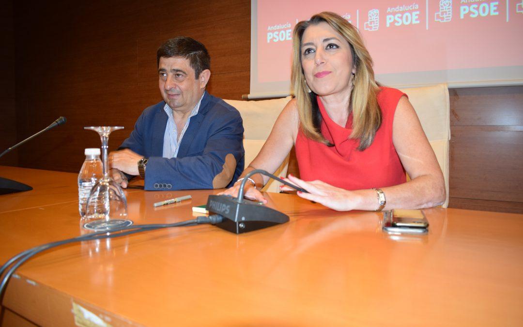 Susana Díaz se reúne con alcaldes, portavoces y secretarios generales del PSOE de Jaén