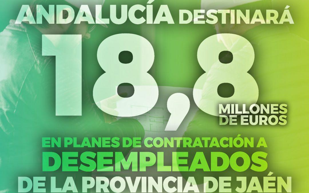 """Jaén recibirá 18,8 millones de los planes de empleo de la Junta: """"El movimiento se demuestra andando y Andalucía da un paso más contra el paro"""""""