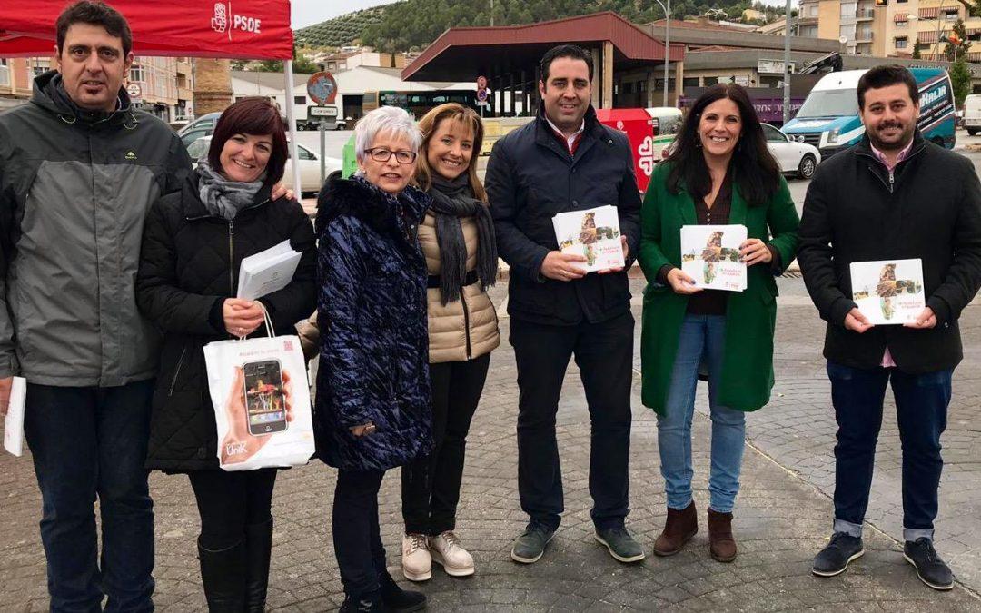 Férriz, en Alcalá la Real: «El PSOE puede salir a la calle a contar lo que ha hecho; otros no pueden porque no han hecho nada y tienen que recurrir al insulto»
