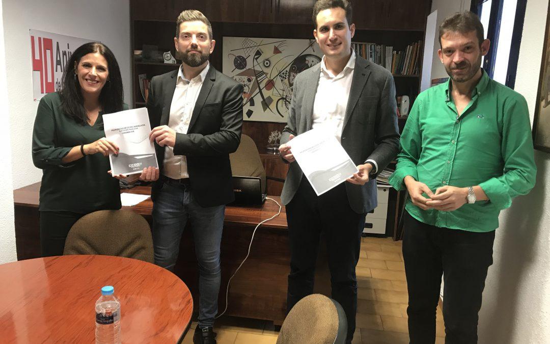 El PSOE se reúne con CCOO para abordar sus propuestas electorales