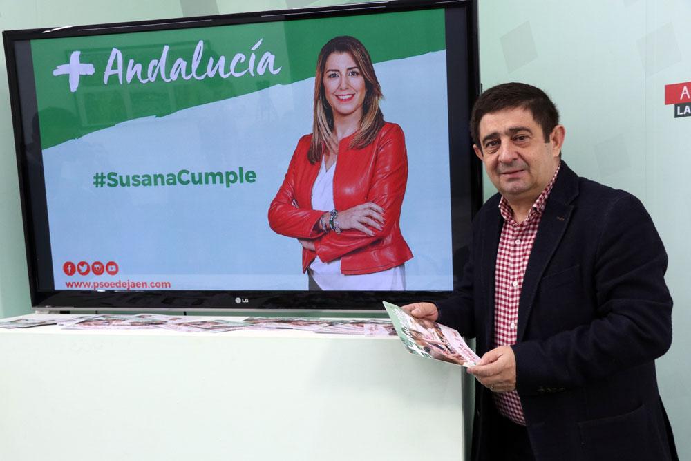"""Reyes advierte: """"Sólo hay 2 opciones: el voto de la estabilidad al PSOE o el voto de la incertidumbre a PP, Ciudadanos, Vox y Andalucía Adelante"""""""
