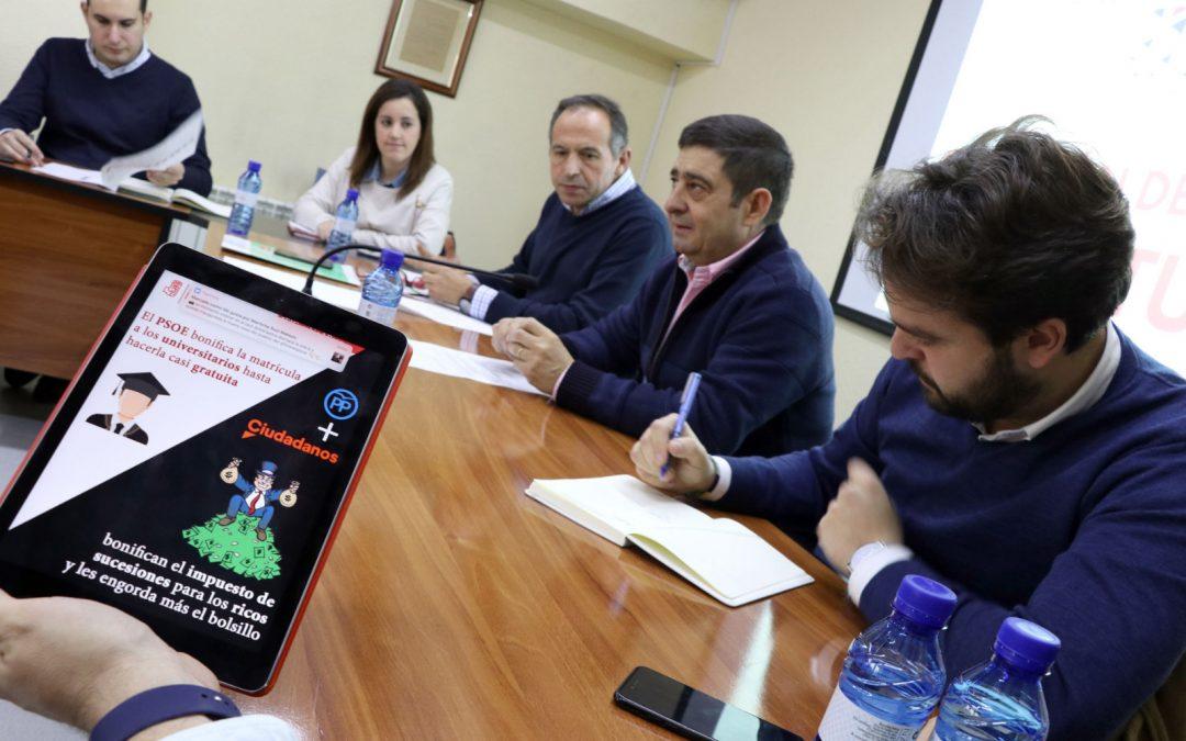 """Preocupación de la Comisión de Juventud por el nuevo rumbo de Andalucía: """"El Gobierno de PP y C's se estrena con la supresión de un impuesto para ricos y cero medidas para los jóvenes"""""""