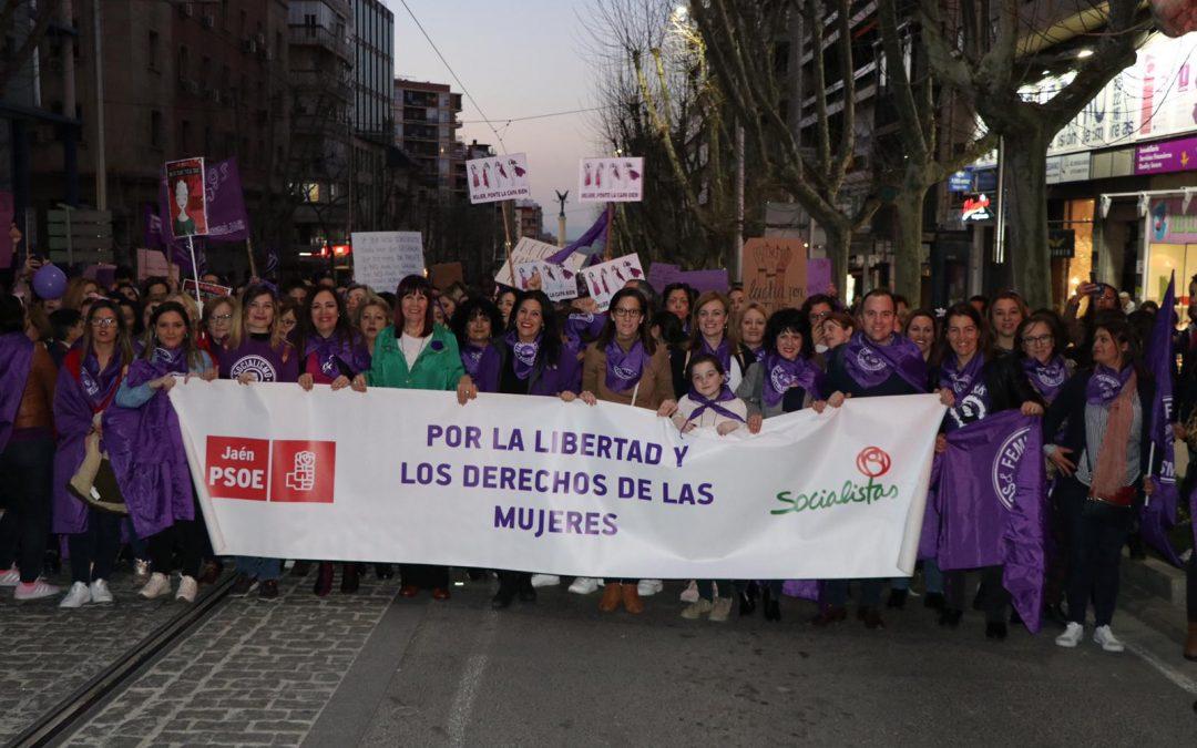 El PSOE de Jaén se vuelca con el 8-M