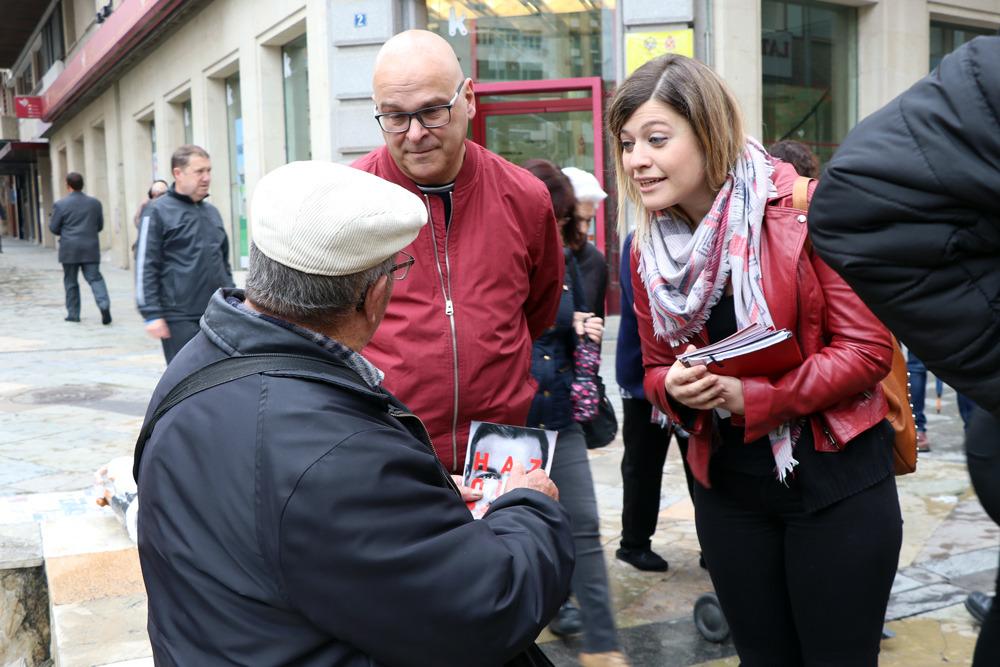 Berja hace un llamamiento a mujeres, jóvenes y pensionistas: «Avanzar tiene las siglas del PSOE; retroceder tiene las siglas de PP, C's y Vox»