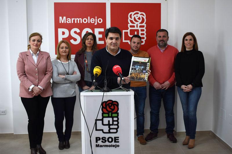 """Manuel Lozano destaca el cumplimiento del programa electoral y agradece la implicación de todos """"para sacar a Marmolejo del pozo donde lo metieron"""""""