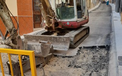 Otra desastrosa obra y otro derroche de dinero en Jamilena: el Ayuntamiento vuelve a levantar una calle que arregló en 2018