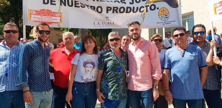 El PSOE de Jaén apoya la movilización del sector agrario en la provincia