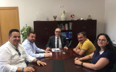 """David Rodríguez valora la """"buena predisposición"""" de la CHG para regularizar las hectáreas de riego pendientes en Peal"""