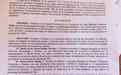 Explosiva subida salarial del equipo de gobierno de PP y AIB en Bailén