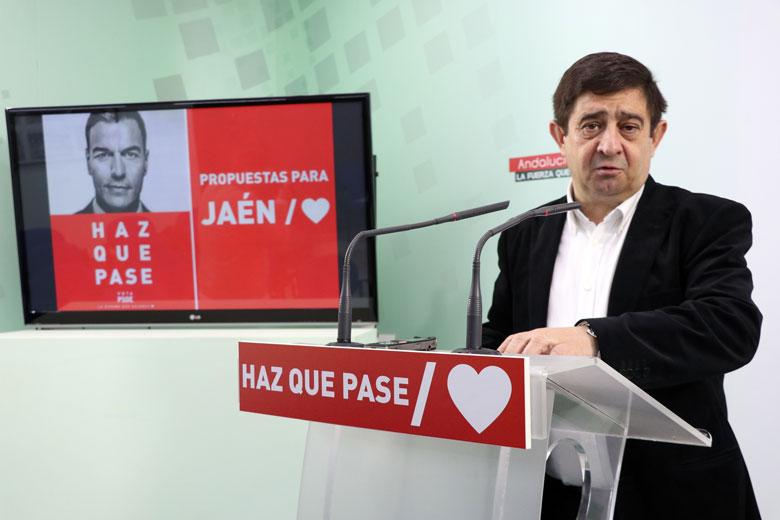 Reyes subraya que la provincia de Jaén «necesita un Gobierno socialista fuerte» y confía en una mayoría parlamentaria concluyente para poder avanzar