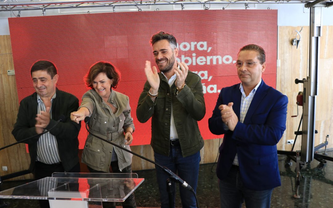 """Carmen Calvo pide el voto masivo porque """"el único voto que se va a transformar en Gobierno progresista es el voto al PSOE"""""""