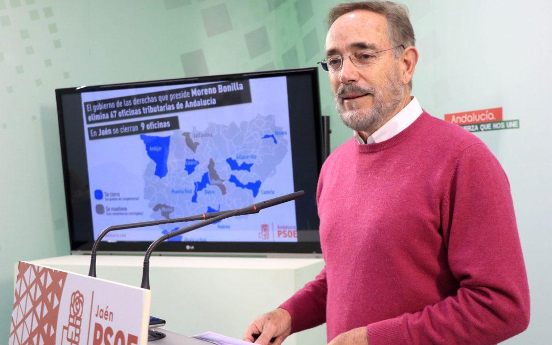La Junta de derechas fulmina 9 oficinas tributarias en Jaén
