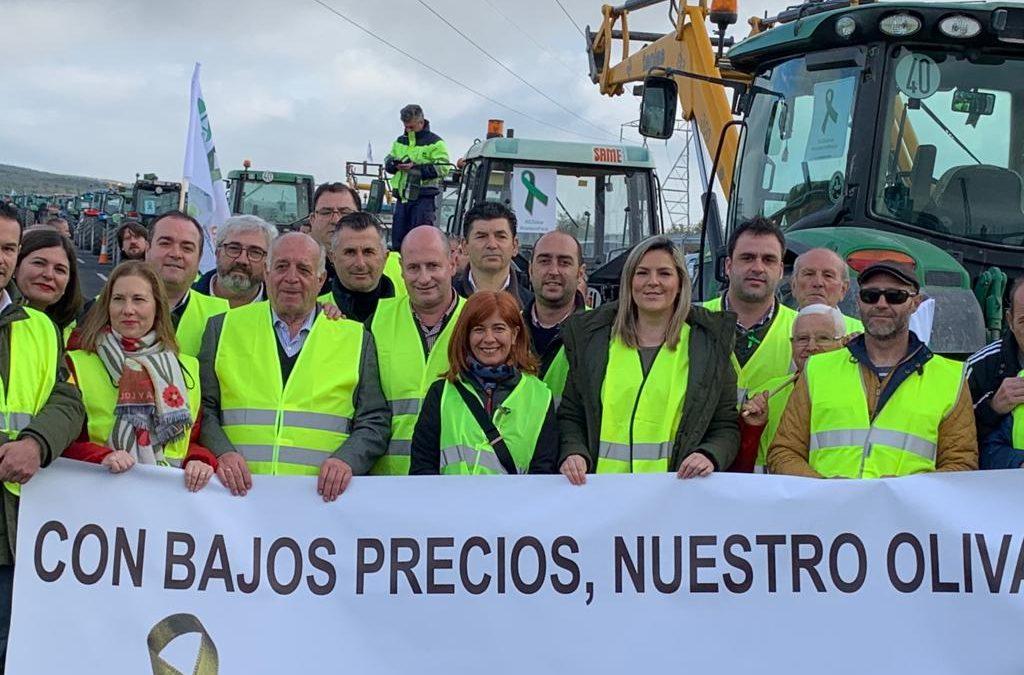 Apoyo masivo del PSOE a las movilizaciones por el aceite de oliva