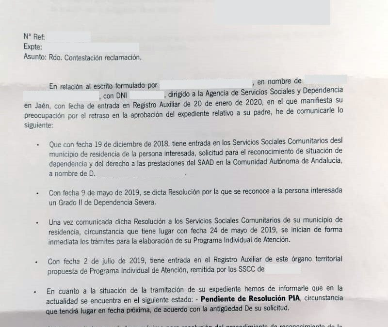 La Junta responde a un dependiente fallecido que no tiene dinero para tramitar su procedimiento en plazo