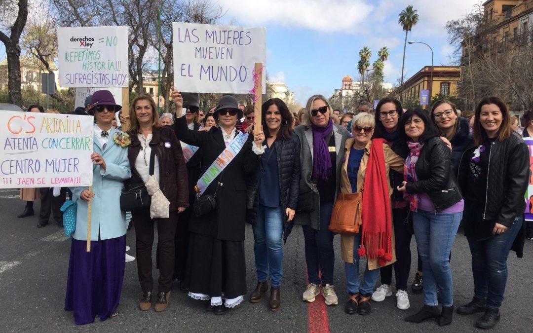 El PSOE de Jaén secunda la marcha por la igualdad