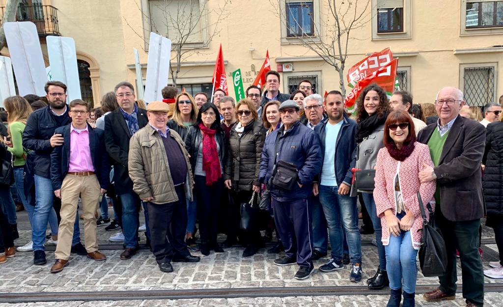 """El PSOE de Jaén apoya la huelga de la enseñanza y reclama a Moreno Bonilla que """"deje de mercadear con la educación pública"""""""