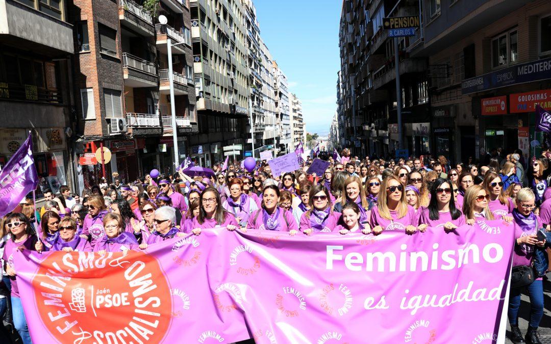 El PSOE de Jaén responde con contundencia a la llamada del 8-M