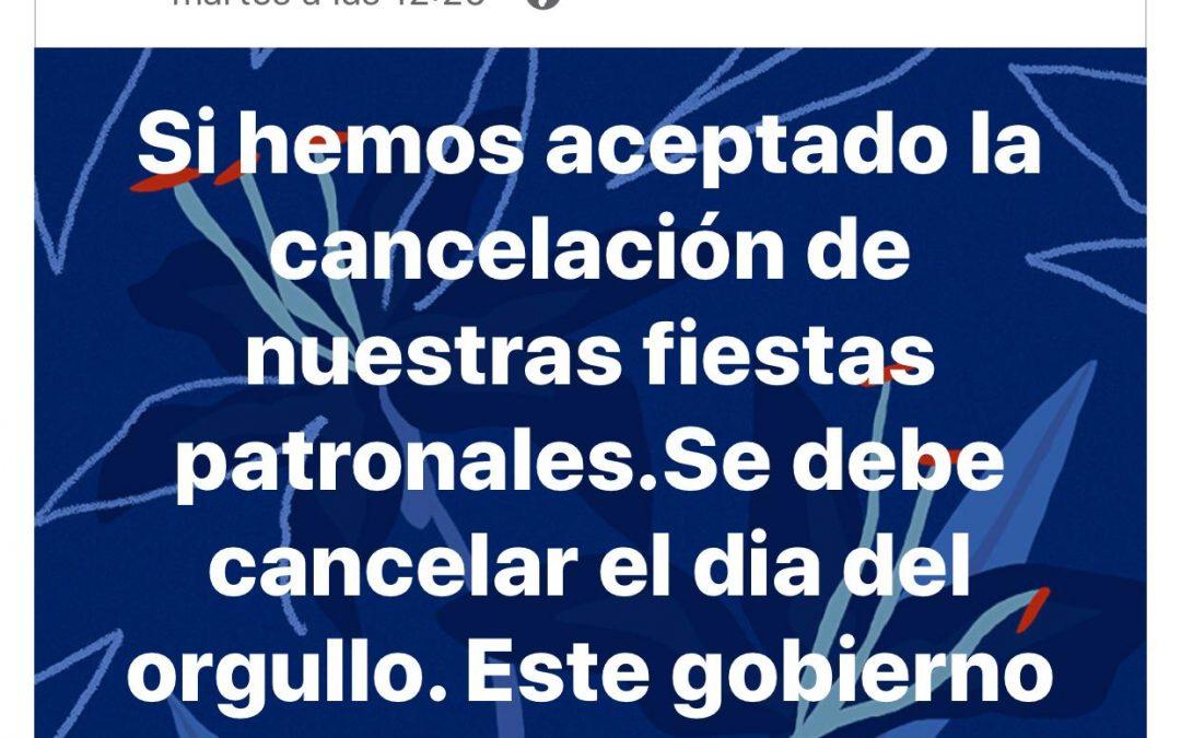 """El PP de Santiago de Calatrava defiende que el Gobierno """"es de cárcel"""" porque 'no ha cancelado' (¡!) el Día del Orgullo LGTBI"""