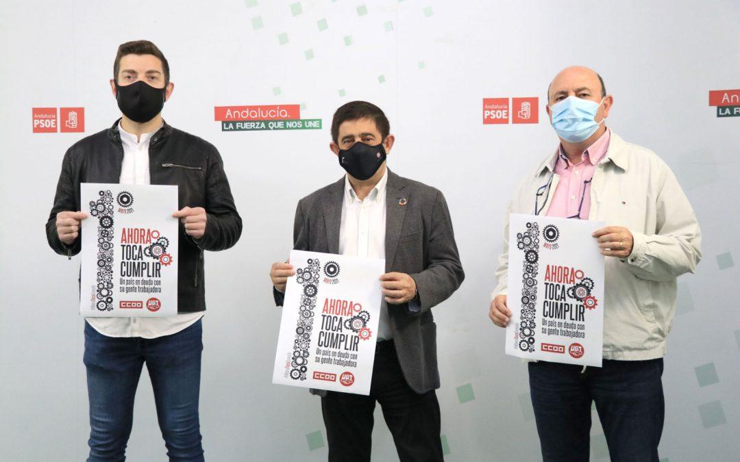 El PSOE de Jaén respalda las movilizaciones del 1 de Mayo