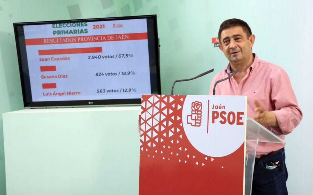 """Reyes: """"Hoy hemos dado el primer paso para lograr el cambio en Andalucía. El PSOE ha vuelto"""""""